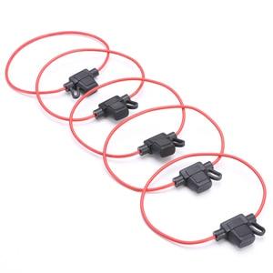 Image 4 - 5Pcs Auto Zekeringhouder Dc 12V Waterdichte Voedingscontact Mini Blade Type In Line Zekeringkasts Accessoires