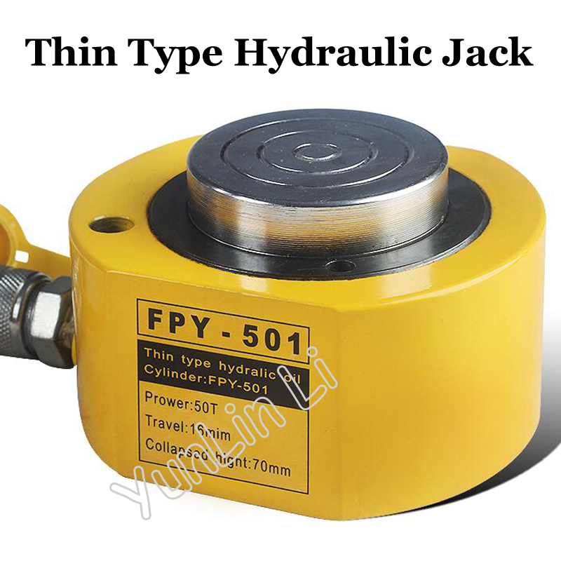 Thin Type Hydraulic Oil Cylinder 50T Separate Jack Hydraulic Cylinder