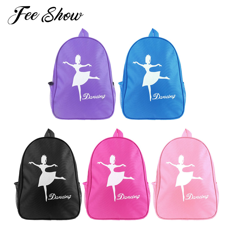 Kids Girls Lovely Fashion Ballet Dance Bag Students School Backpack Dancing Girl Print Shoulder Ballet Bag for Children's Dance
