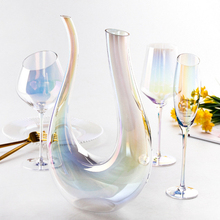 1.5L U Shape Crystal Red Wine Decanter Swan Carafe Gifts Large Aerator Accessories Hand Blown Sommelier Lead Free