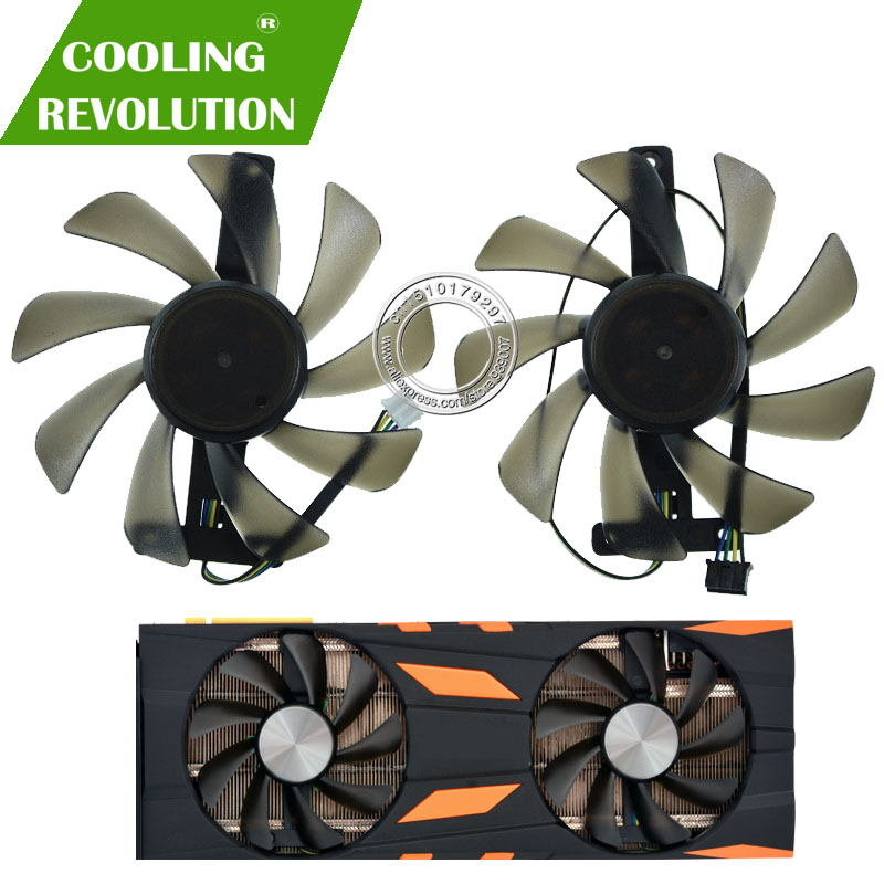 2PCS/SET CF9015H12S Graphics fan for Inno3D GeForce <font><b>RTX</b></font> 2070 <font><b>RTX</b></font> 2080 <font><b>RTX</b></font> <font><b>2080TI</b></font> image