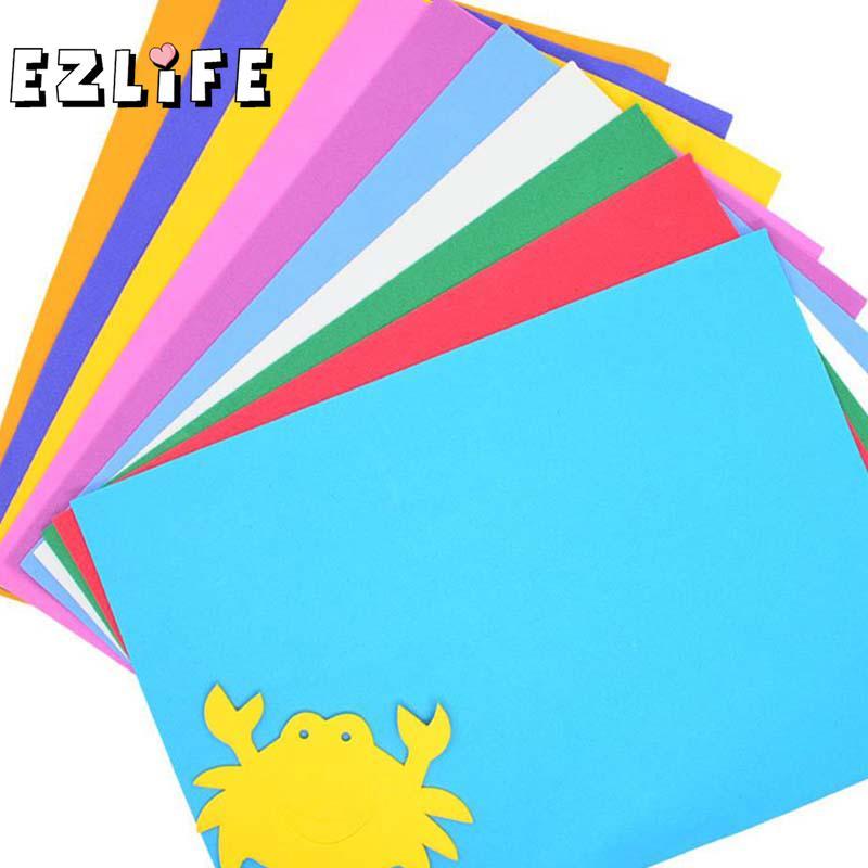 10pcs/lot Foam Paper Art 10 Colors A4 Fold scrapbooking Thick Multicolor Sponge Foam Paper Craft DIY Child Puzzle Paper CT0227