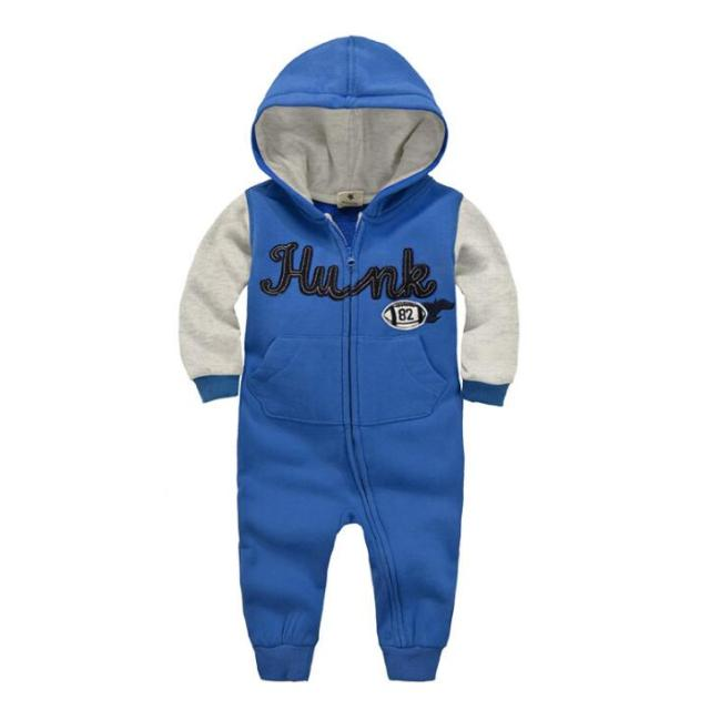 Warm Hooded Rompers for Baby Boys