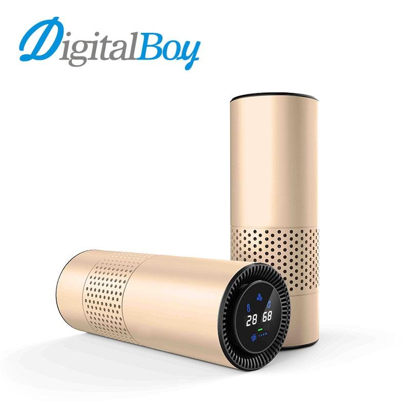 5V USB Car Air Purifier HEPA Filter Portable Cleaner Formaldehyde Cigarette Smoke Odor Bacteria Purifying Device Gesture Sensing