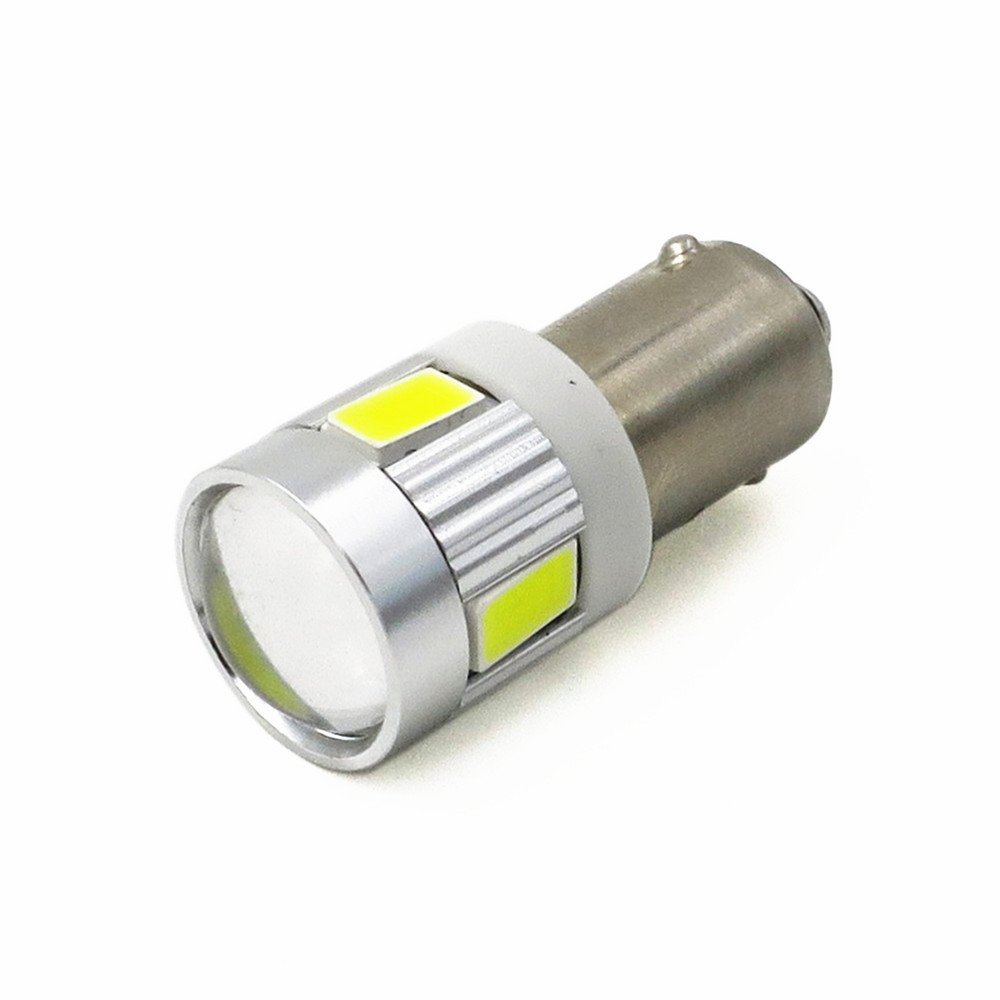 4Pcs BA9S 6000K White High Power 5730-SMD LED Lights Bulbs BA9 53 57 1895 64111 for Side Door Courtesy Lights,Map Dome Lights