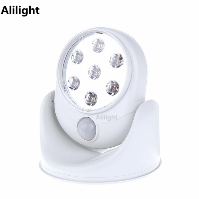 Indooroutdoor 6v led cordless motion activated sensor lamp sconces indooroutdoor 6v led cordless motion activated sensor lamp sconces 360 degree rotation wall light aloadofball Images