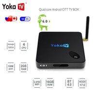 YOKATV KB1 Smart Set Top TV Box 2GB 16GB Amlogic S905X Quad Core Android 6 0