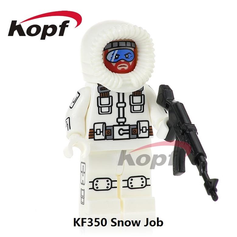 20Pcs KF350 Super Heroes Snow Job Firefly Power Girl Snake Eyes Gi Joe Series Bricks Building Blocks Model Gift Toys Children