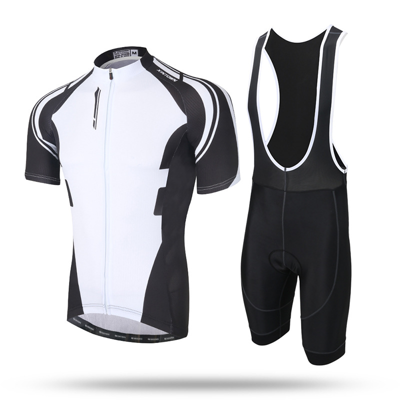 XINTOWN Men's Summer Sport Suits Short Sleeve Cycling Jersey Gel Pad Bib Shorts Wicking Breathable MTB Mountain Bike Clothes women s cycling shorts cycling mountain bike cycling equipment female spring autumn breathable wicking silicone skirt