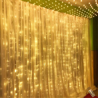 6x3m 600led string fairy lights Wedding garden party led curtain Decor Christmas Remote Garlands string led lights Decoration