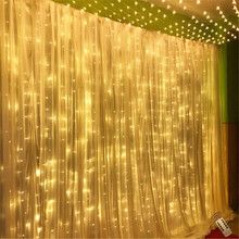 6x3m 600led string fairy lights Wedding garden party led curtain Decor Christmas Remote Garlands Decoration