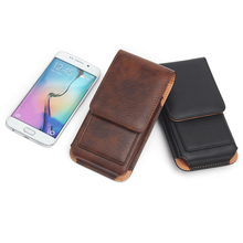 Rotating Belt Clip Phone Holster PU Leather Pouch Carrying Cover Card Slots Hanging Waist Bag for iPhone For Samsung Huawei