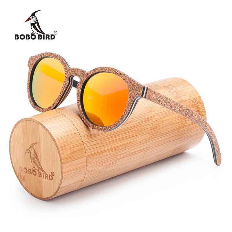 BOBO BIRD New Original Wood Sunglasses Women Handwork Retro Wooden Sun Glasses With Memorial Gift Oculos for Drop ship AG019