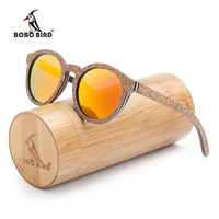 BOBO BIRD New Original Wood Sunglasses Women Handwork Retro Wooden Sun Glasses With Memorial Gift Oculos
