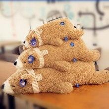 Zhaitu Polar Bear Плюшевые игрушки Мягкая подушка кукла медведя милые лежать ничком, чтобы лежать ничком 105 мм подарок sub10030