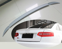 2005 2011 PU Car Trunk Lip Spoiler Boot Wing For Audi A6L C6 3PCS SET