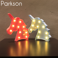 3D Table Lamp Led Night Light Novelty Fixtures Lamparas Unicorn Christmas Tree Flamingo Decor Led Lamp Night Lights Veilleuse