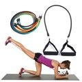11 Pçs/set Pilates Látex Expansores de Tubos Conjuntos de Resistência do Exercício da Tubes Prático Resistance Band Crossfit Fitness Equipment