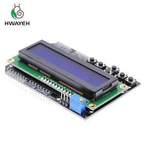 Image 4 - 1PCS LCD לוח מקשי חומת LCD1602 LCD 1602 מודול תצוגת עבור arduino ATMEGA328 ATMEGA2560 פטל pi UNO כחול מסך