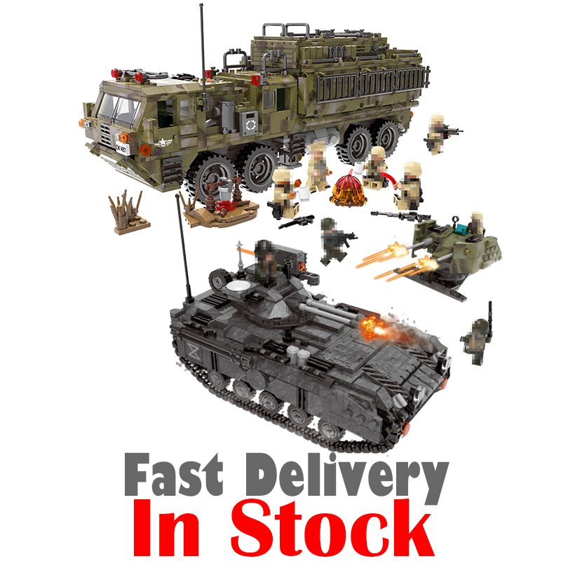 XingBao Heavy Truck Tank Military Figures SWAT Army Soldiers Tank Building Blocks Bricks Toys For Boys Gifts legoINGly oyuncak xipoo 502pcs ww2 military series legoingly police sets playmobil tank building nano blocks bricks toys for boys