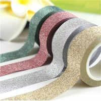 5M brokat Washi taśma klejąca rolka do czyszczenia ubrań maskująca taśma klejąca etykiety DIY Craft Party Home Office Hotel dekoracje Craft papieru
