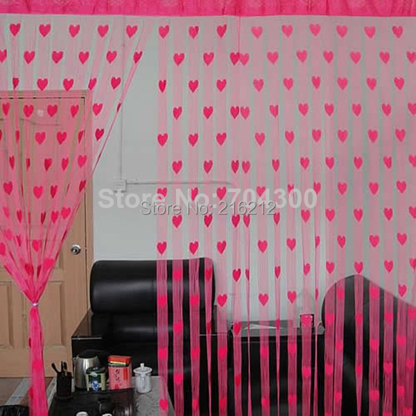 Fashion Hot Cute Heart Line Tassel String Door Curtain Window Room ...