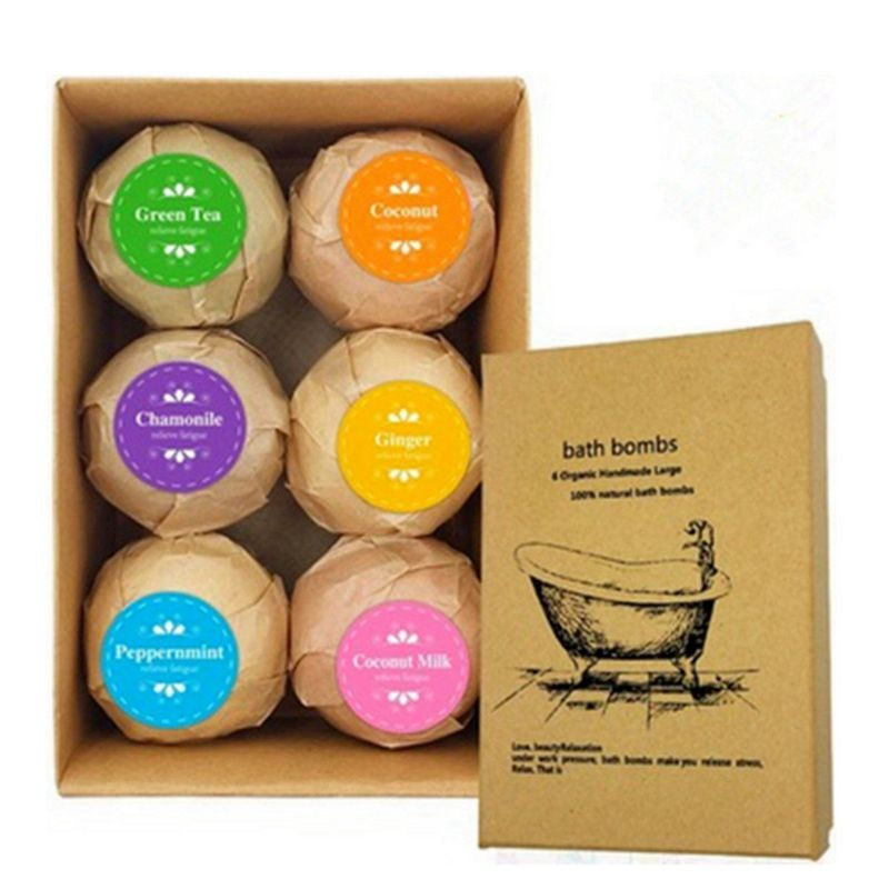 6pcs Deep Bath Salt Body Oil Moisturizing Bath Ball Natural Bubble Bath Salt Ball