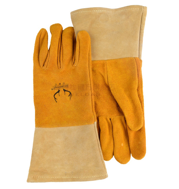 Grain Deerskin Leather Welding Gloves TIG MIG Welder Safety Glove 2 pairs Deer Skin Leather Work Glove oxygen welder safety gloves long sleeve tig mig welding work gloves