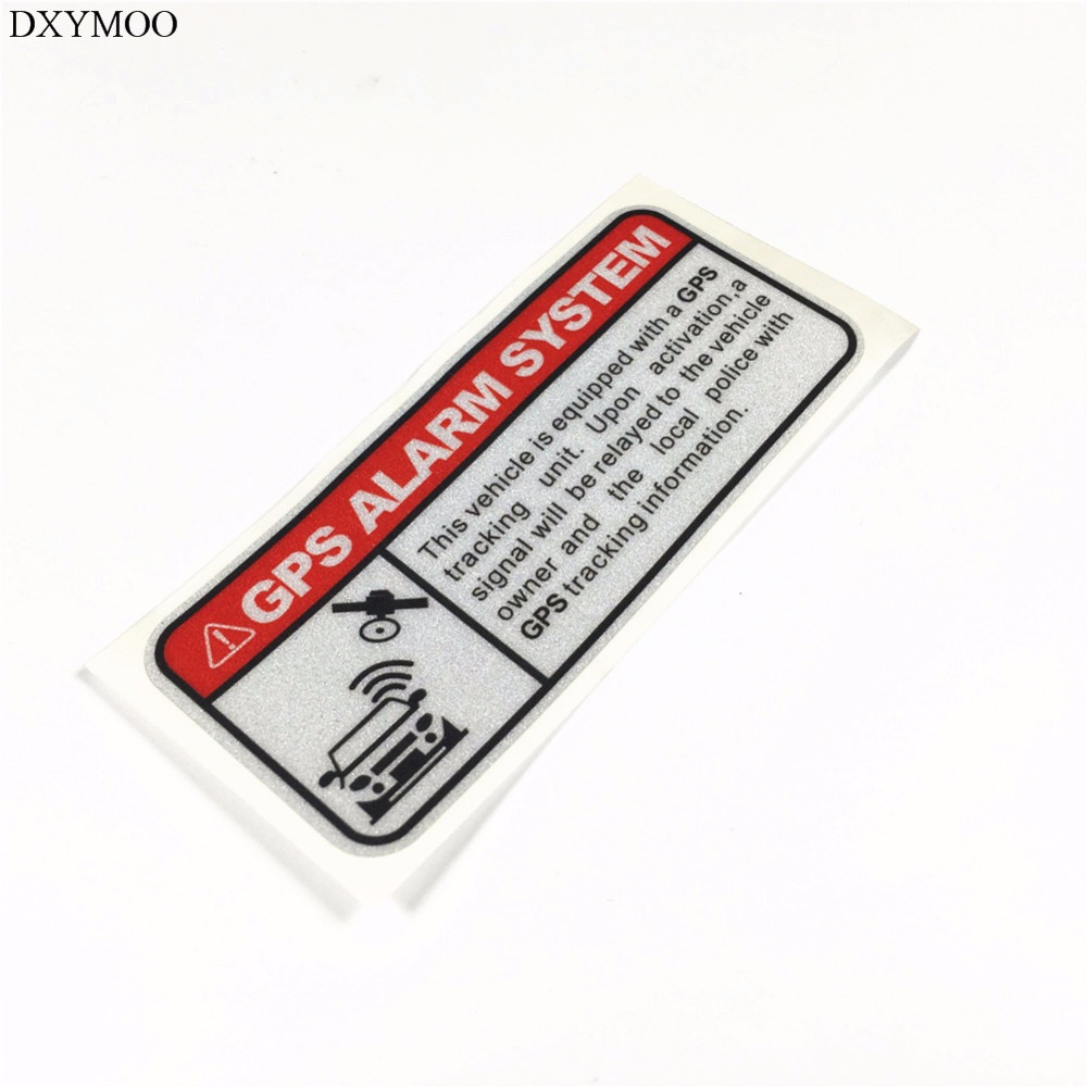 2pcs funny warning sticker decals gps alarm system tracking anti theft motorcycle car stickers 3m reflective