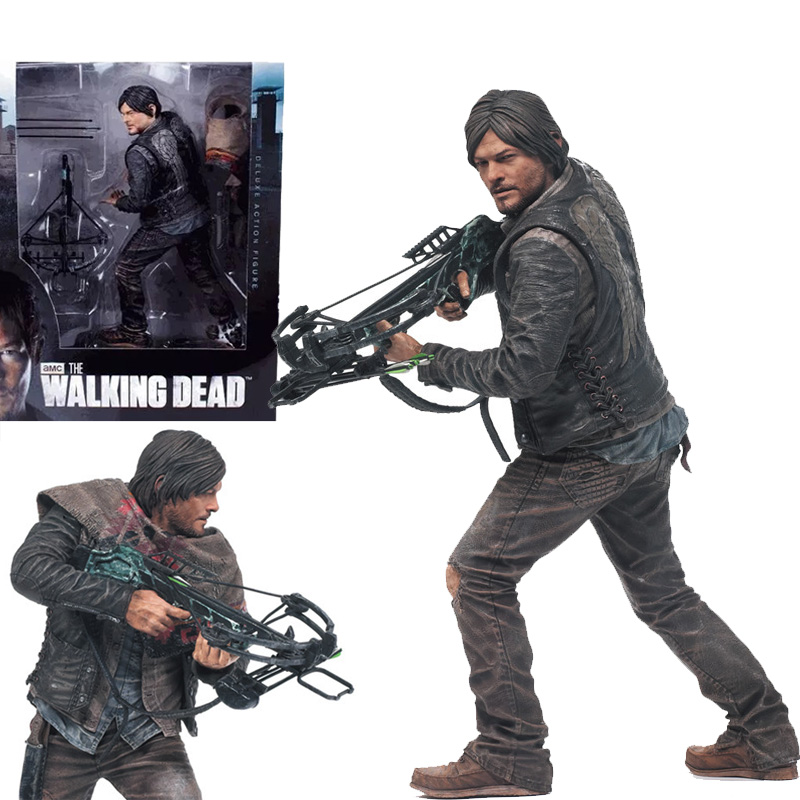 NEW Hot 25cm The Walking Dead Figure Daryl Dixon Action Figures Doll Collection Toys Christmas Gift For Fans  the walking dead action figure zombie figures head resin crystal car ornament home desk decoration furnishing articles