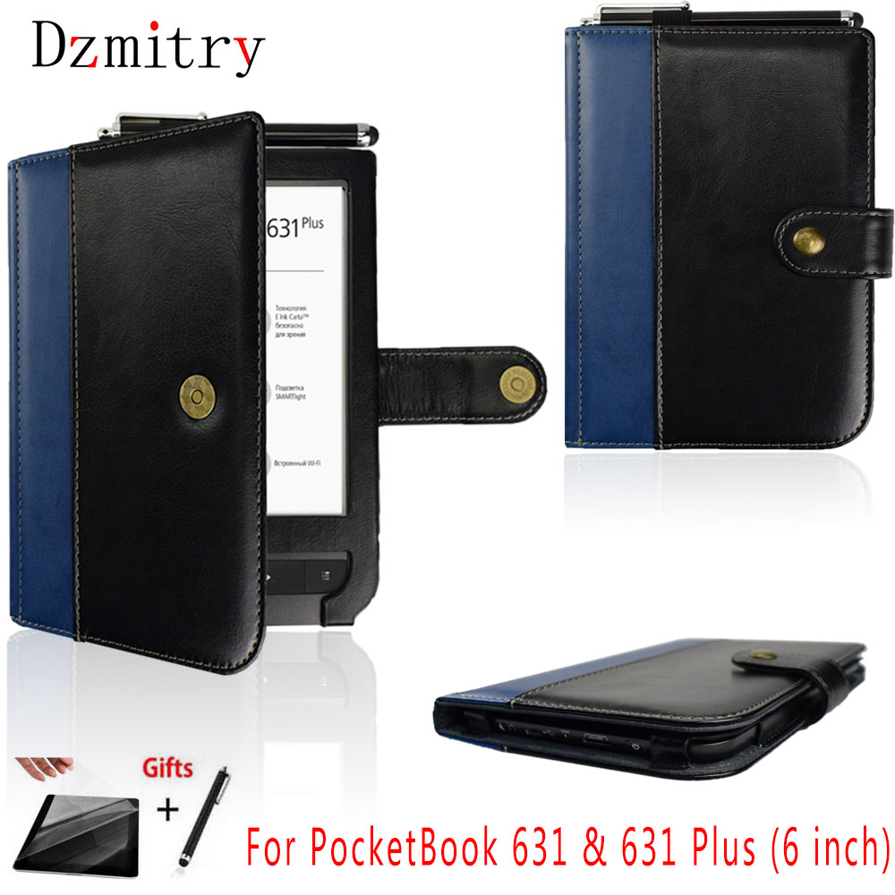 PU Leather book Shell For Pocketbook 631 Touch HD ebook and 631 Plus 6 inch eReader Touch HD 2 Protection Case Cover+Film+penPU Leather book Shell For Pocketbook 631 Touch HD ebook and 631 Plus 6 inch eReader Touch HD 2 Protection Case Cover+Film+pen