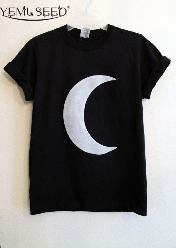 Hot Nouvelle Mode 2016 À Manches Courtes Alien Tops Femmes Noir t-shirts ET T-shirt D'été Courtes T-shirts