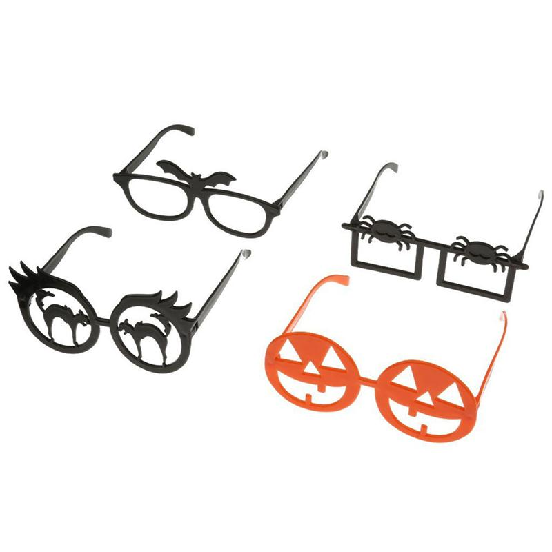 4pcs Funny Novelty Glasses Frame Eye Mask Halloween Masquerade Cosplay Makeup Party Event Decoration Gift