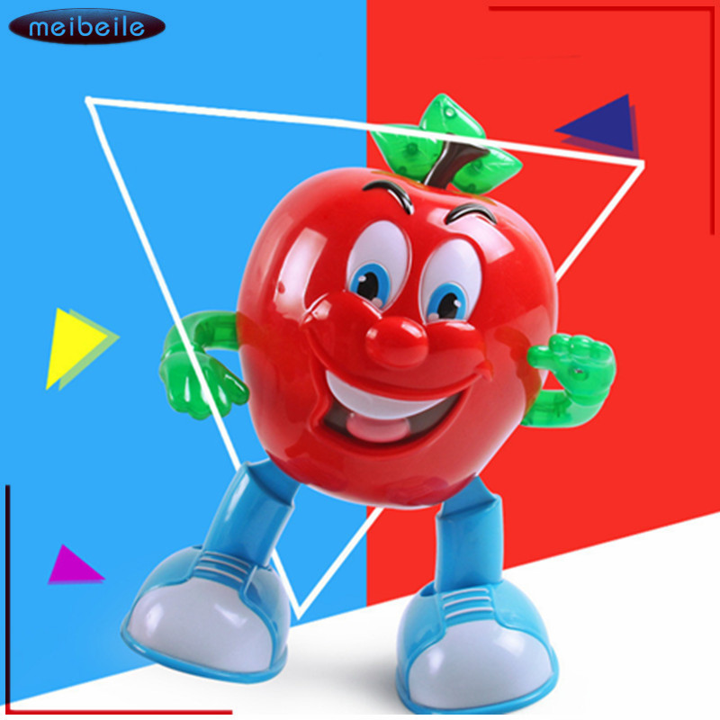 New Electronic Toy Cute Dancing Musical apple Flashing and walker toy Baby Christmas Birthday Gift Educational Toys For Children