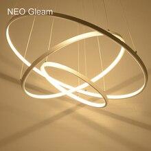 Современные светодиодные люстры акриловая свет лампы для столовая гостиная lampadario Moderno Блеск Люстра Освещение AC85-265V