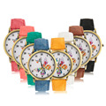 Moda casual relógio de pulso das mulheres de ouro rodada shell butterfly relógio de quartzo denim pulseira relogio feminino hot!