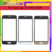 10Pcs/lot For Samsung Galaxy J1 2016 J120 J120F J120M J120H SM-J120F/DS Touch Screen Front Glass Panel TouchScreen Outer Lens цена и фото