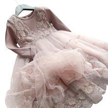 Lace Girls Dress 2019 summer Sleeveless Big bow tutu Princess Kid Dresses for Girls Clothes birthday Party Vestidos 1-12 year