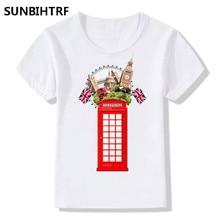 9462846aa8 2018 Tourist City London Print Funny Children T-Shirts Summer Top Big Boys/ Girls