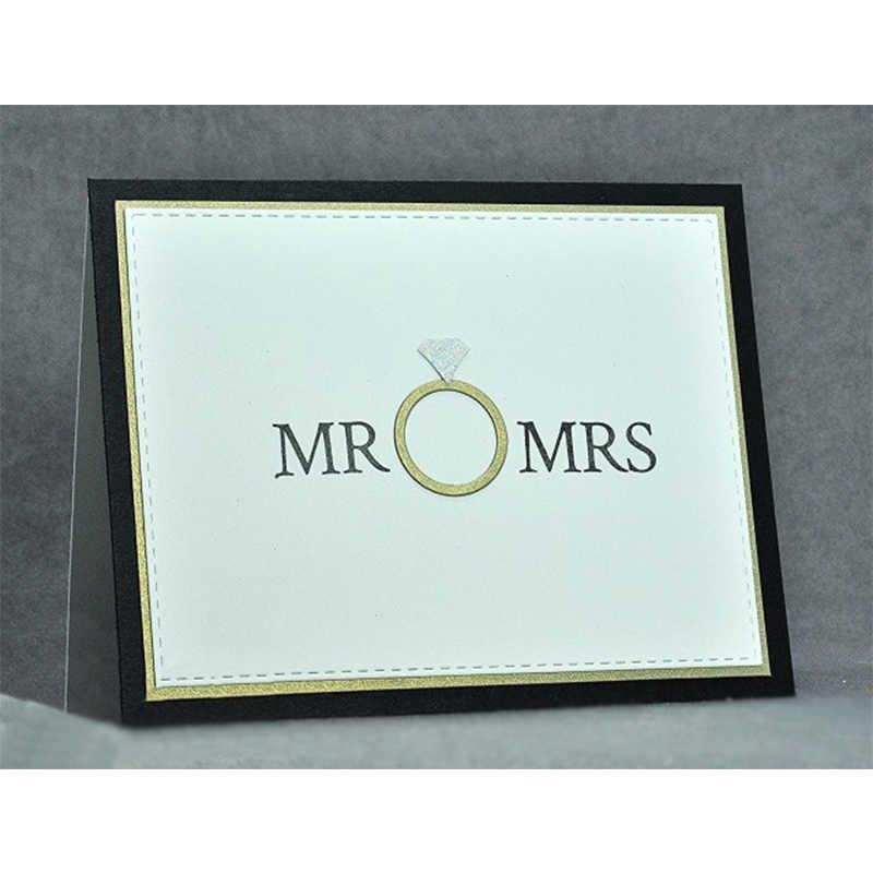 แหวนเพชรโลหะตัดตายตัดตายสำหรับสมุดลายนูนตกแต่งงานฝีมือDIYแต่งงานกระดาษบัตรใหม่2018 Diecut