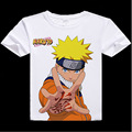 Naruto digital printed hot anime Naruto t shirt clothes Uzumaki Sasuke Uchiha short-sleeve Naruto T-shirt men tshirt