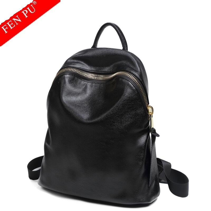 High Quality Genuine Leather Women Backpacks 2017 Hot Sale Fashion Causal Female Leather Backpacks For Teenage School Bags