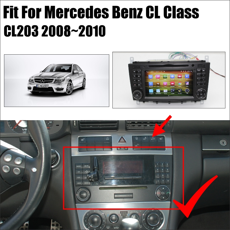 YESSUN For Mercedes Benz CLC CL203 2008~2010 Android Car Radio CD DVD Player GPS Navi Navigation Maps TV Screen Multimedia