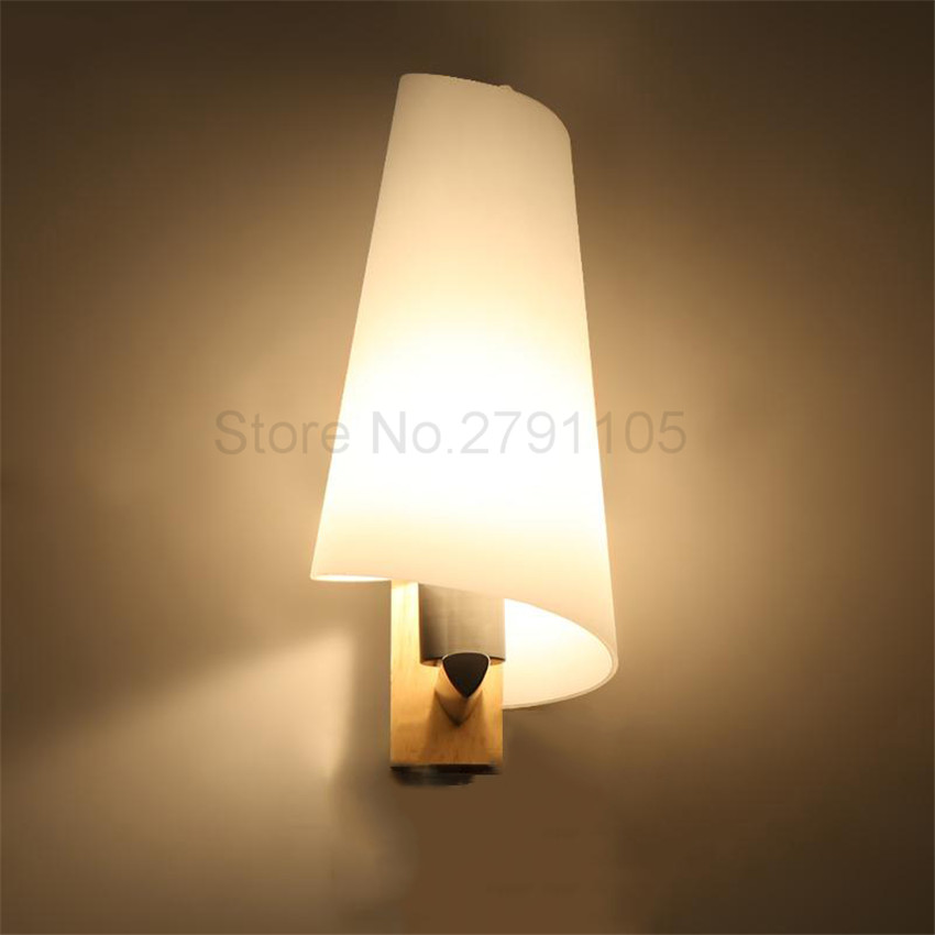 madera nrdica moderna simple luz led de pared de pasillo luz de la escalera