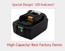 Comercio al por mayor LED de La Batería 6000 mah para Makita 18 V Con Indicador LED 194204-5 194205-3 194309-1 LXT400 BL1830 BL1815 BL1835