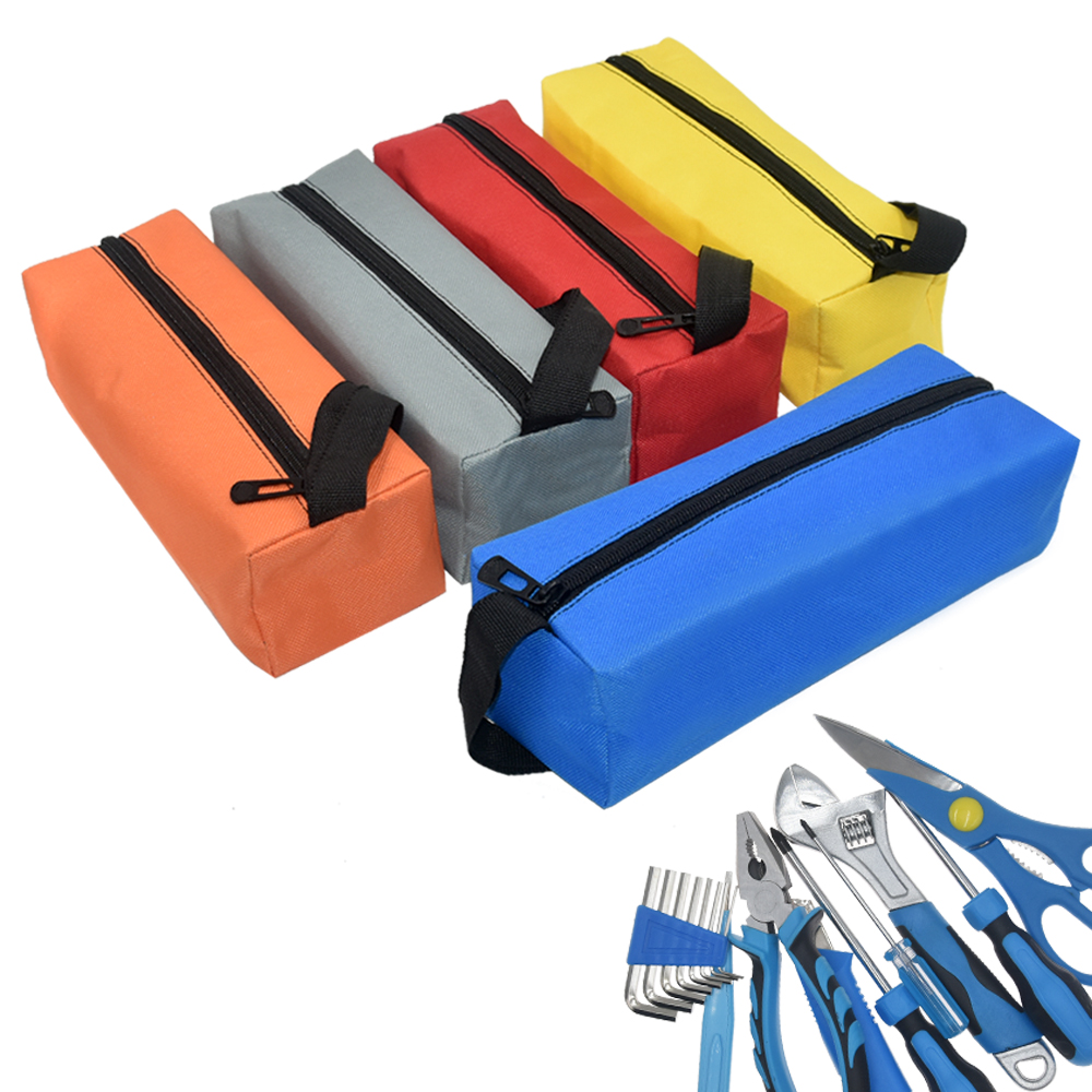 Portable 600D Oxford Cloth Electrician Hardware Storage Tool Bag Waterproof Screws Nuts Drill Bit Holder Utility Zipper Toolkit clearaudio professional analogue toolkit