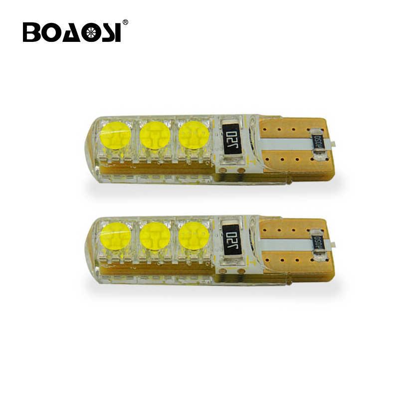 2x Новый Автомобильный светодиодный T10 194 W5W 5050 + силиконовая оболочка фара