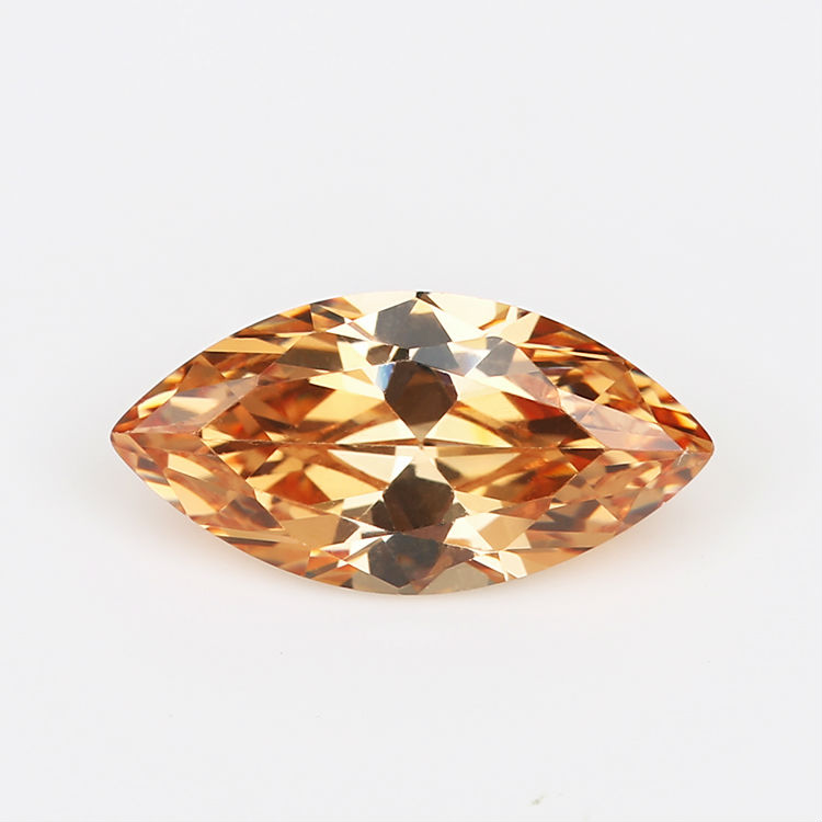 50PCS 1.5x3~10x20mm Marquise Shape Loose CZ Stone Champagne AAAAA Cubic zirconia Synthetic stone For Jewelry DIY Stone