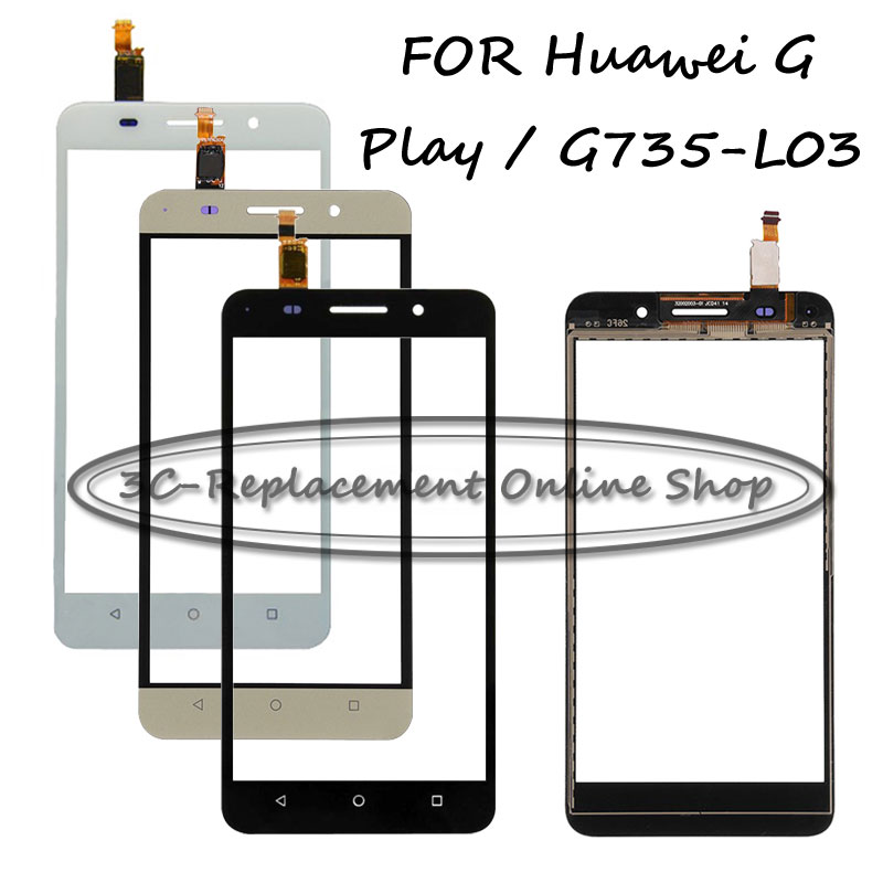 imágenes para Negro/blanco/oro de pantalla táctil digitalizador para huawei g play g735-l03 g735 g735-l23 digitalizador touch screen display + seguimiento de pedidos