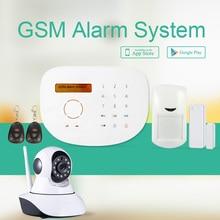 Touchpad Android IOS APP wi-fi GSM burglar alarm & 433Mhz  GSM dwelling burglar alarm system with IP digital camera